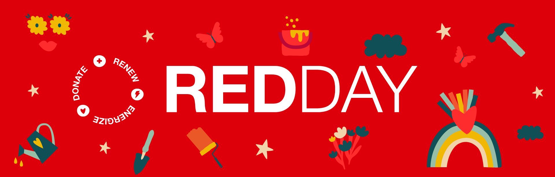 RED Day - Renew. Energize. Donate.